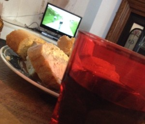 Wine, bread, TdF on telly. Clinging on to that holiday vibe ...