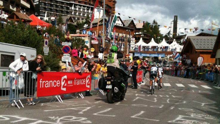 Alpe d'Huez on race day: a buzzing throng of Tour supporters