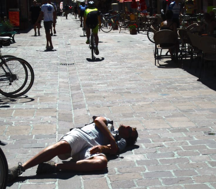 Finished! In every sense. Ryan and I stagger into Bourg d'Oissans for a celebratory ice cream