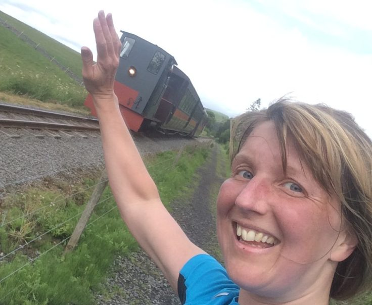 The train overtakes at last